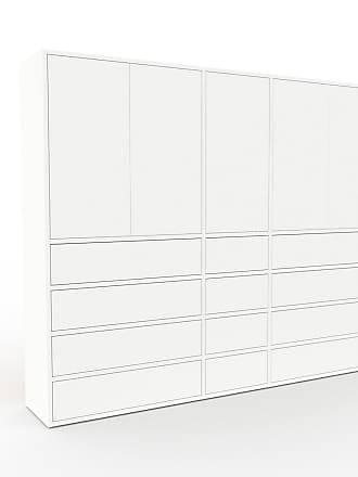 MYCS Buffet - Blanc, moderne, avec porte Blanc et tiroir Blanc - 190 x 157 x 35 cm