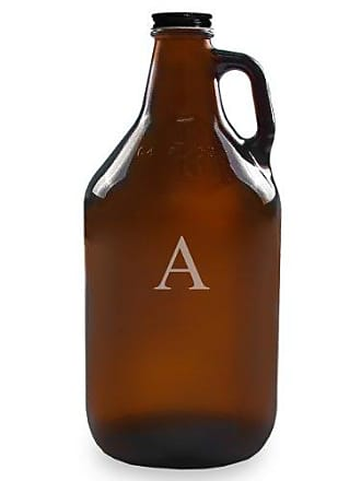 Cathy's Concepts Personalized 64oz Growler, Amber, Letter A