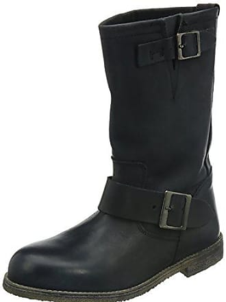 ddd3c6e42b3a4b Buffalo London Damen 13980 WASHED LEATHER Biker Boots Schwarz (BLACK 01) 37  EU