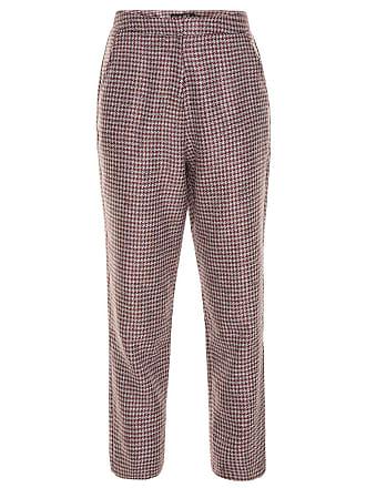 Bianza Calça alfaiataria em tweed - Vinho