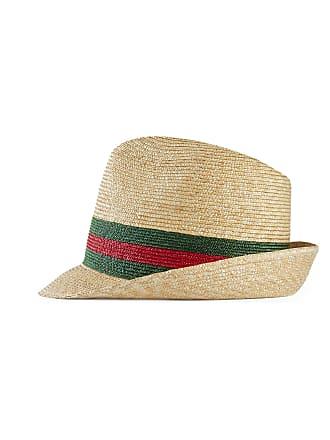 Gucci Cappello fedora in paglia intrecciata ddf02bbe9111