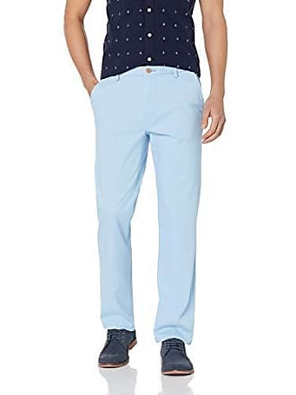 461277dc1b196c Izod Mens Saltwater Flat Front Straight Fit Chino Pant, placid blue, 33W x  32L