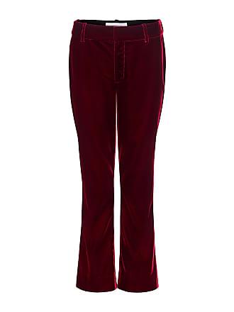Derek Lam Velvet Crop Flared Pants Burgundy