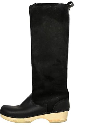 b33d663d3f88e 1stdibs No. 6 Black Leather suede Shearling-lined Tall Heeled Boots Sz 40