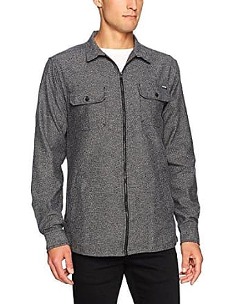 Zoo York Mens Long Sleeve Shirt Jacket, Range Black, Small