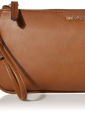 Nine West Womens Small Accessories Wristlet, Tobacco