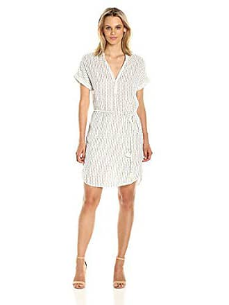 4e48965c146b6 Michael Stars Womens Dobby Stripe Caftan Dress, Ivory, M