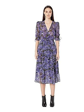 19438bb235fd The Kooples Hydrangea Print Dress (Black/Purple) Womens Dress