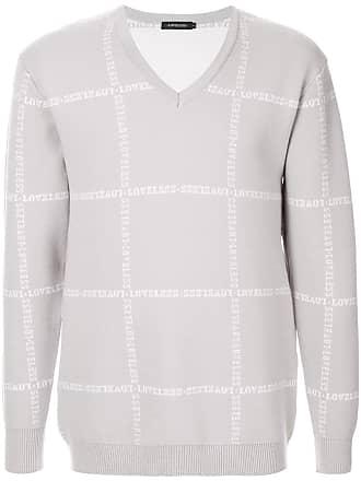 Loveless Suéter com logo bordado - Cinza