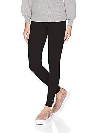 Hue Womens Fashion Cotton Leggings, Assorted, lace hem/black, M