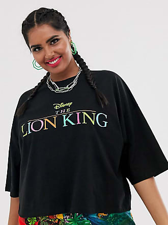 f5680f69a487 Asos Curve Disney The Lion King x ASOS DESIGN Curve oversized cropped t- shirt with