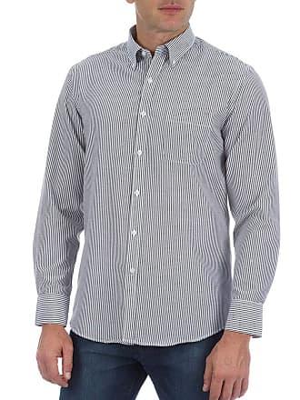 Colombo Camisa Social Masculina Preta Listrada 41199 Colombo