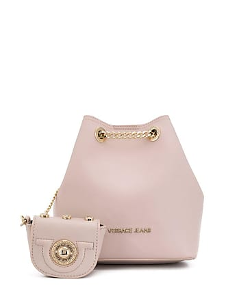 Versace Jeans Couture logo bucket bag - Pink