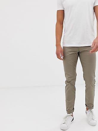 Armani J13 slim fit gaberdine pants in beige - Beige
