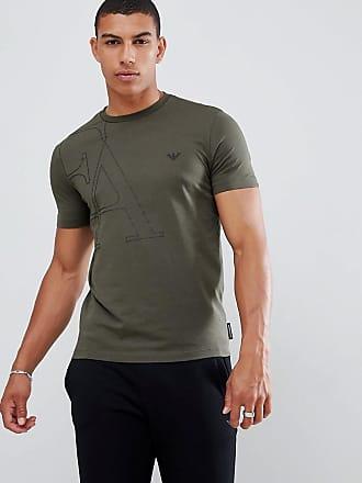 Emporio Armani Camiseta con logo gráfico grande en caqui de Emporio Armani 77abfc0d72c4e