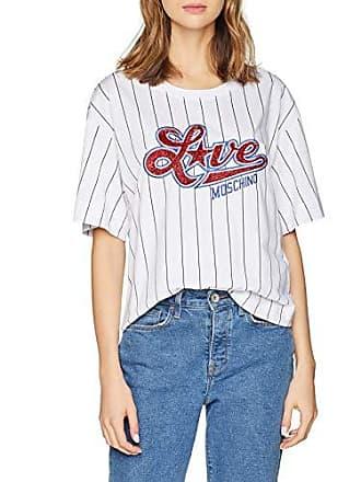 dc56d37509 Love Moschino Baseball Striped + Star Logo Short Sleeve T-Shirt Camiseta