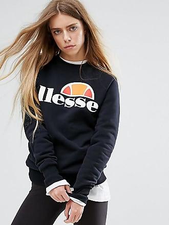 Ellesse Boyfriend-Sweatshirt mit Logo auf der Brust - Schwarz 2cf19370ff