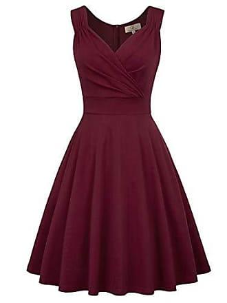 2110d42ee085d Grace Karin cocktailkleid v Ausschnitt Elegante Kleider Weihnachten  Petticoat Kleid 50er Jahre Swing Kleid CL107-