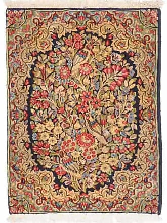 Nain Trading 76x54 Persian Kerman Rug Beige/Pink (Hand-Knotted, Iran/Persia, Wool)