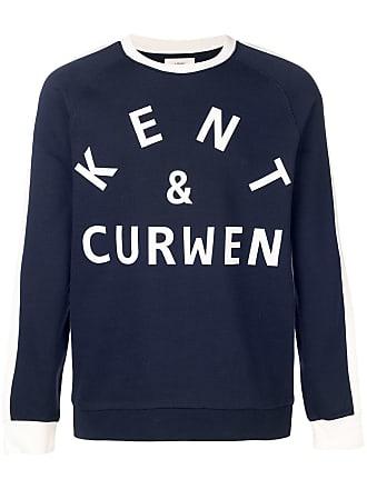 Kent & Curwen Moletom com estampa de logo - Azul
