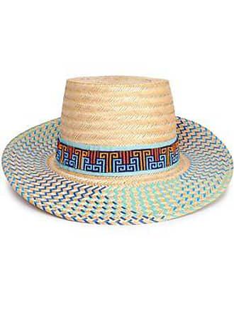 d5903371e895ed Yosuzi Yosuzi Woman Bidika Bead-embellished Straw Sunhat Blue Size M