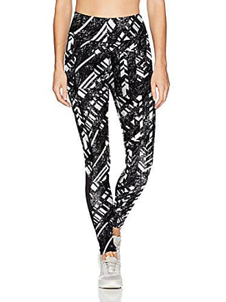 9d16207801c3f Spalding Womens Essential Hight Waisted Ankle Legging, Voltage Print/Deep  Black Inserts, XL