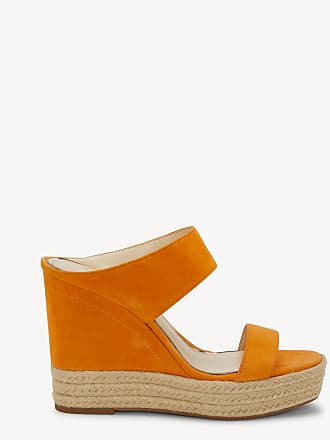 Jessica Simpson Womens Siera Platform Wedges Tangerine Size 11 Leather From Sole Society
