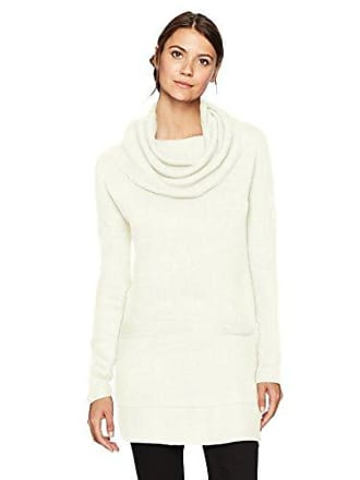 Sag Harbor Womens Long Sleeve Cowl Neck W/2 Pockets Pullover, Ivory, XL