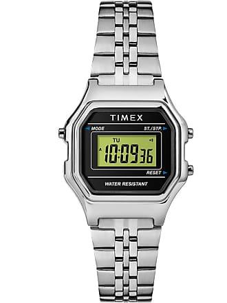 Timex Watch Womens Digital Mini 27MM Bracelet Silver-Tone/silver-Tone/digital Item Tw2T48600Vq