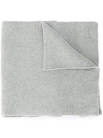 0711 ribbed knitted scarf - Grey