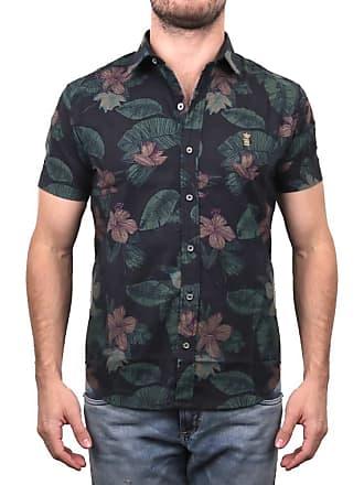 Sergio K. Camisa Estampada Rústica Costela