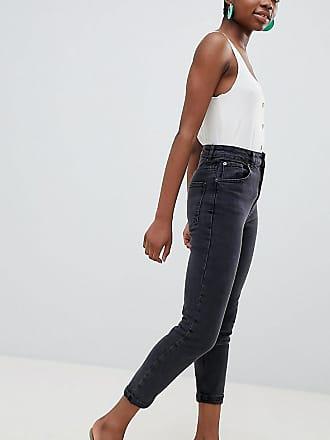 9128876b593991 Asos Petite ASOS DESIGN Petite - Farleigh - Schmal geschnittene Mom-Jeans  mit hoher Taille