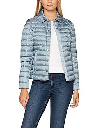 6654f54f7a8674 Geox Woman Down Jacket Manteau, Bleu (Rose Sugar Blanc Paper), 42 (