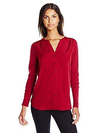 NYDJ Womens Woven Sweater Combo Caridgan, Claret, X-Small