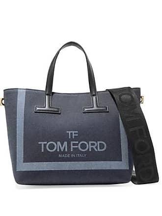 6e4cc38d7b8a8 Tom Ford Sac En Jean Imprimé À Finitions En Cuir T Mini - Bleu