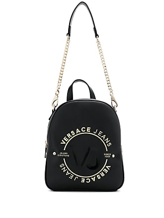 6b558bd6b7e Versace Jeans Couture logo print backpack - Black