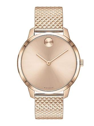 81c347934 Movado 35mm Movado Bold Thin Watch w/ Mesh Bracelet, Carnation