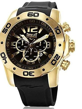 Everlast Relógio Everlast Masculino Ref: E547 Big Case Cronógrafo Dourado