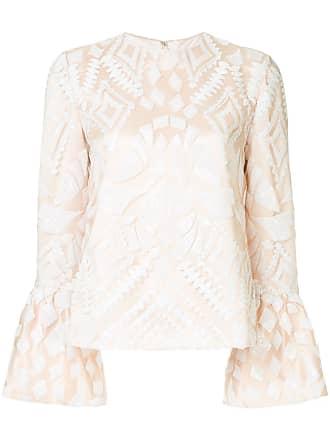 Huishan Zhang geometric pattern blouse - Neutro