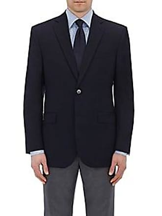 Barneys New York Mens Wool Twill Two-Button Sportcoat - Navy Size 40 L