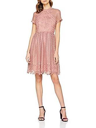 38a54f13750 Little Mistress Gaby Apricot Lace Skater Dress Robe de soirée