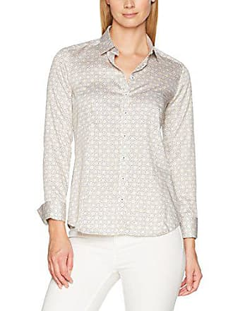 cb87970faaa87f Eterna Damen Bluse Comfort Fit Langarm Sand Bedruckt mit Hemd-Kragen Beige  21