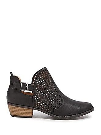 Forever 21 Forever 21 Faux Leather Cutout Booties Black
