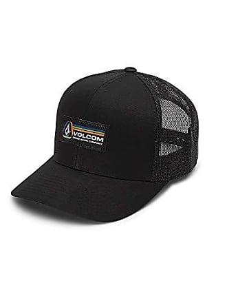 Volcom Mens Volhorizons Six Panel Xfit Hat, Black, One Size Fits All