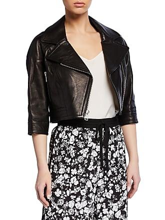 Yigal AzrouËl Lamb Leather Cropped Moto Jacket