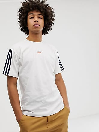 adidas Originals T-shirt fluttuante bianca con righe - DV3260 - Bianco 3d964660949