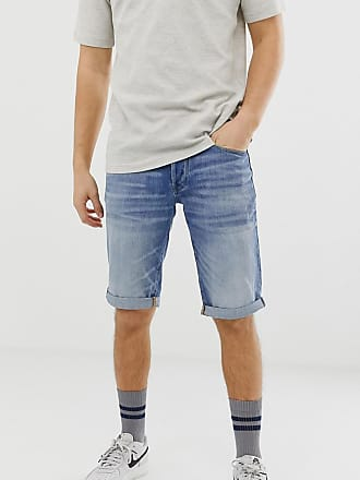 G-Star 3301 light wash denim shorts - Blue