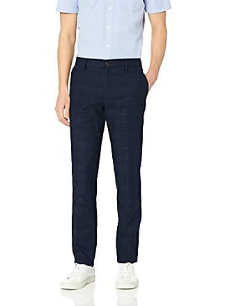 Goodthreads Mens Slim-Fit Wrinkle Free Dress Chino Pant, Navy Glen Plaid, 38W x 29L