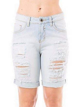 Eventual Bermuda Jeans Feminina Mid Drop Eventual Rasgada Clara