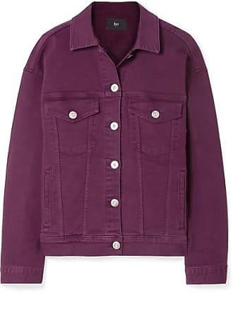 3x1 Oversized Denim Jacket - Burgundy